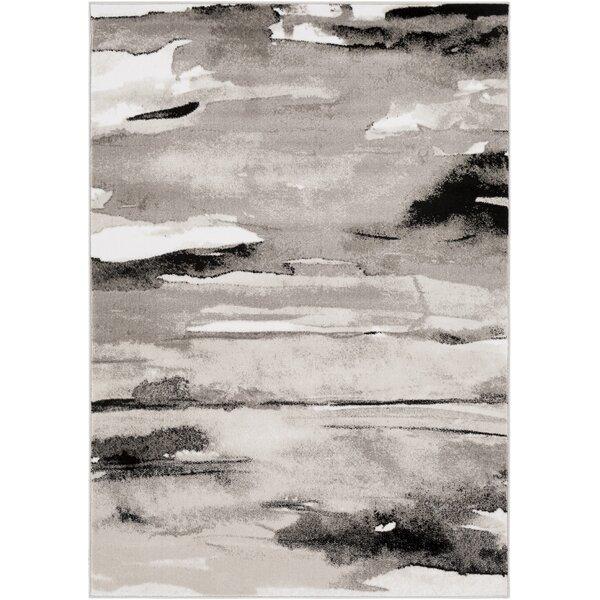 Redden Abstract Gray Area Rug by Orren Ellis