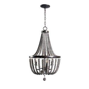 Small wood bead chandelier wayfair louis wood bead 3 light mini chandelier aloadofball Gallery