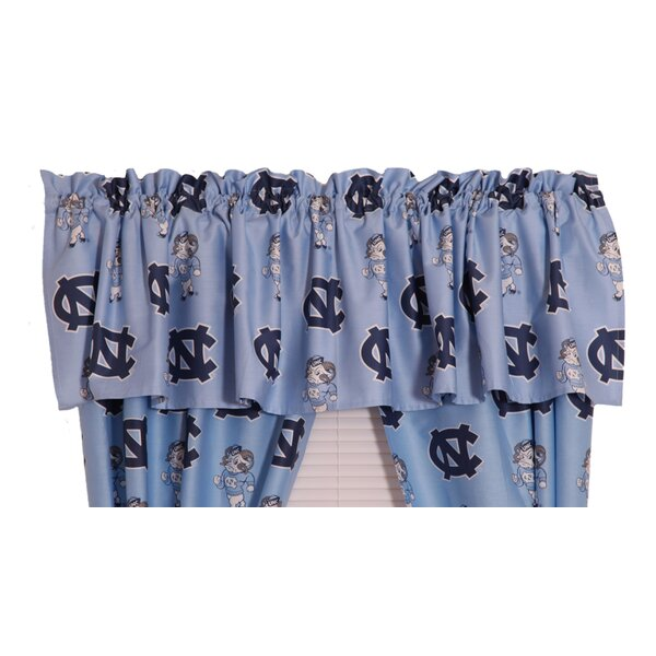 NCAA UNC Printed Rod Pocket Curtain Valance by College Covers