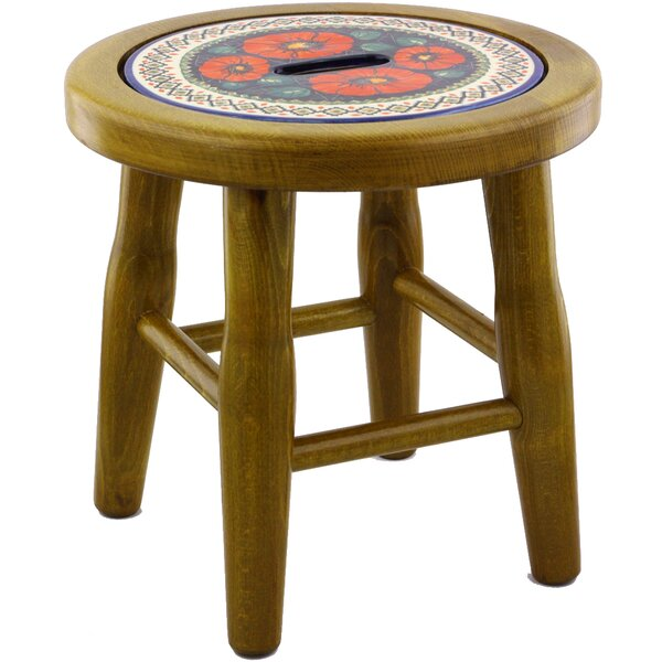 Polish Pottery Accent Stool by Polmedia