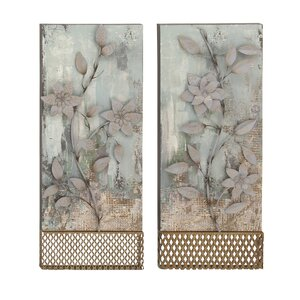 2 Piece Metal Wall Plaque Set (Set of 2) by Cole & Grey
