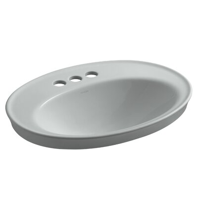 Drop Sink Ceramic Oval Overflow Faucetet photo