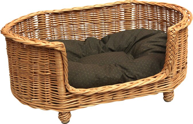 fancy pet furniture. Luxury Pet Bed Basket Settee In Brown Fancy Furniture