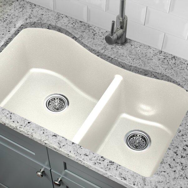 33 X 20 Double Basin Undermount Kitchen Sink