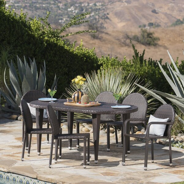 Rhein Outdoor 7 Piece Dining Set by Red Barrel Studio