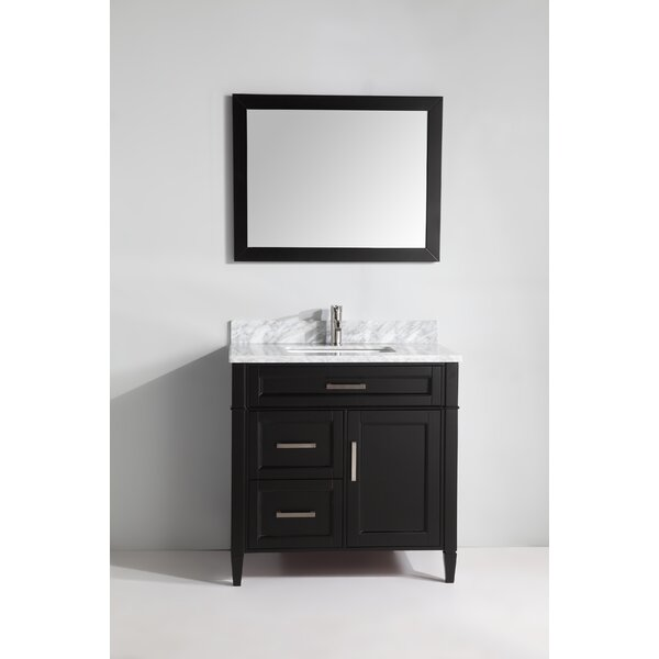 Lachine Marble 36 Single Bathroom Vanity with Mirror by Gracie Oaks
