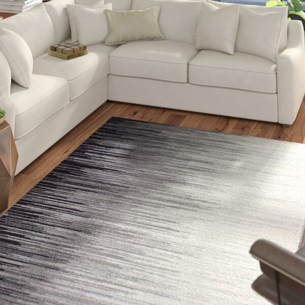 Colunga Black Area Rug by Mercury Row