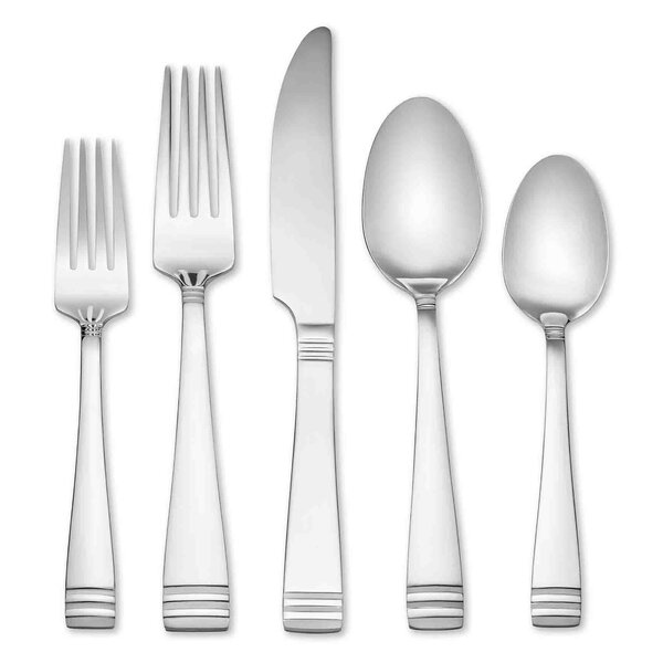 Mercer Frosted 45 Piece Flatware Set, Service for 8 (Set of 8) by Hampton Forge