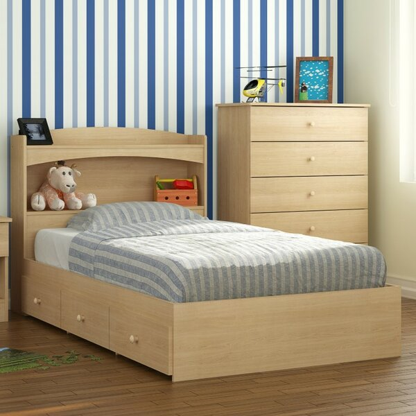 Parada Hollow Twin Mates & Captains Bed With Drawers And Bookcase By Red Barrel Studio by Red Barrel Studio Amazing