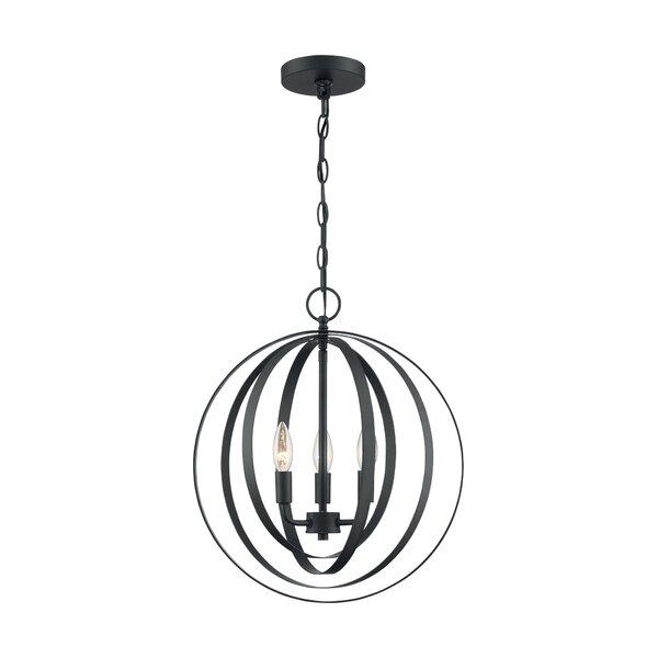 Jale 3 - Light Unique / Statement Globe Chandelier By Orren Ellis