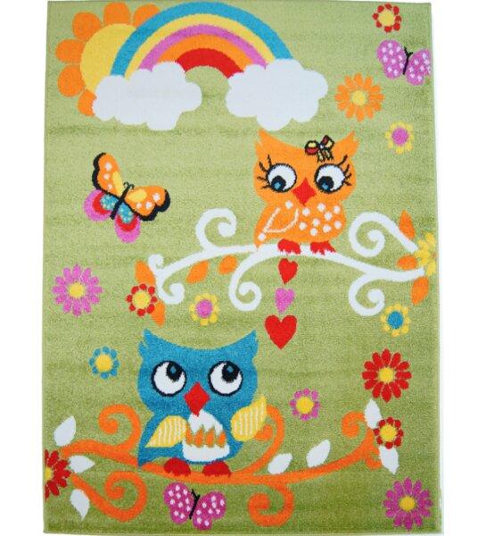 Howton Kids Owl Green/Orange Area Rug by Zoomie Kids