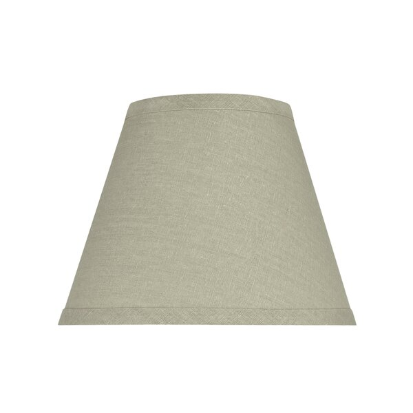 7 H x 14 W Fabric Empire Lamp Shade ( Spider ) in Gray