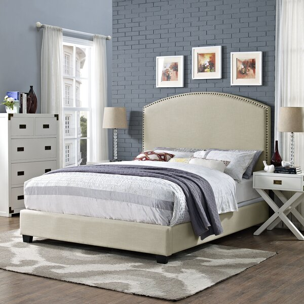 Benedict Curved Upholstered Bed by Alcott Hill