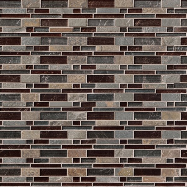 Urbano Blend Interlocking Pattern Random Sized Glass Tile in Brown by MSI