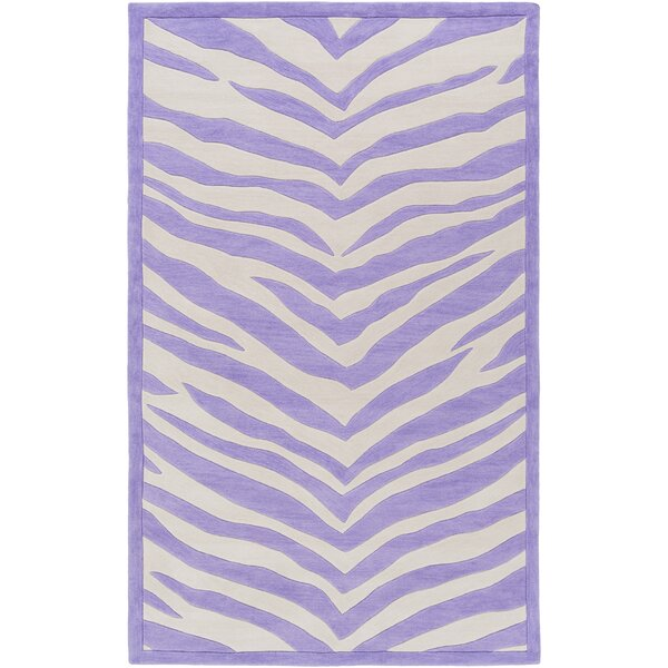 Alvin Hand-Tufted Violet/Ivory Area Rug by Zoomie Kids