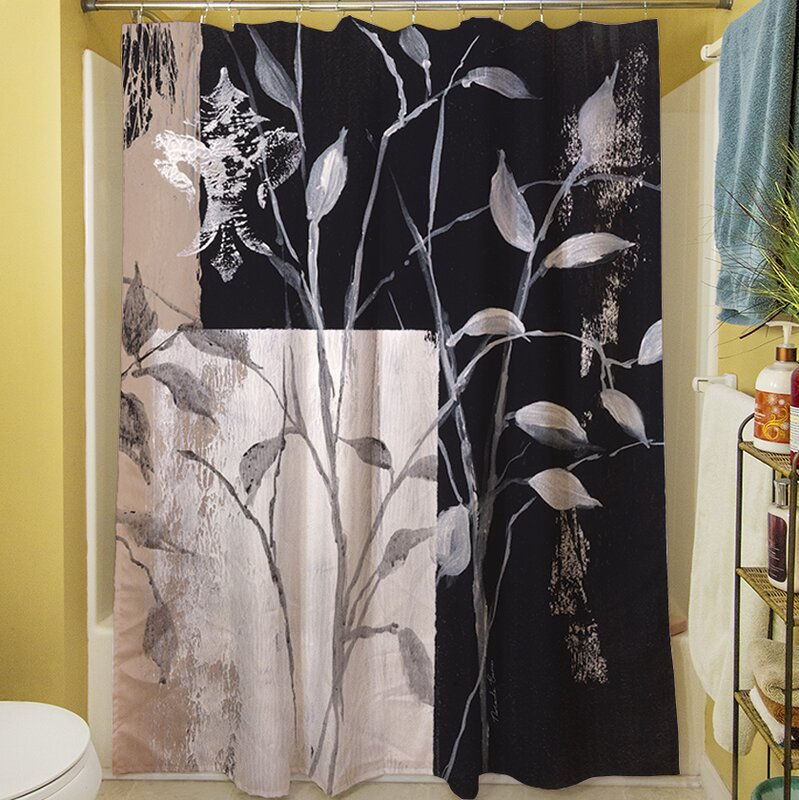Manual Woodworkers & Weavers African Leaf Abstract Shower Curtain & Reviews