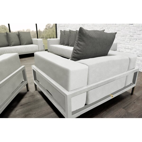Tilly Modern 4 Piece Sofa Set with Cushions by Orren Ellis