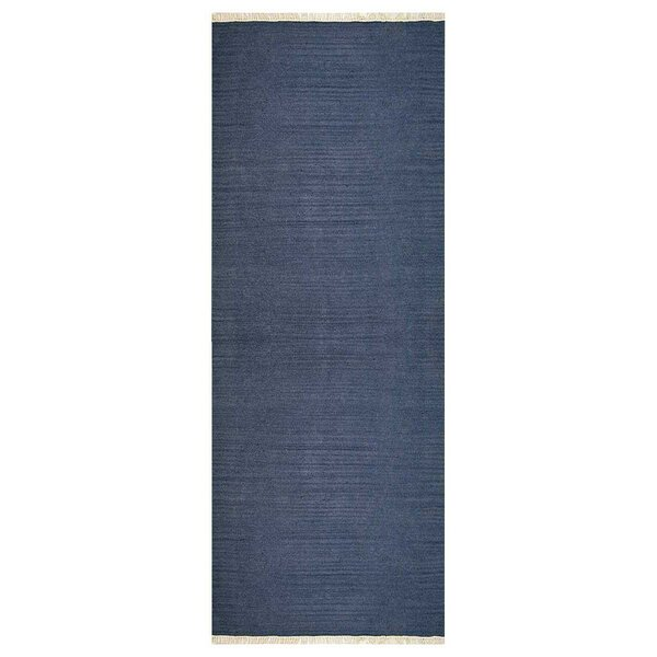 Andover Hand-Woven Wool Blue Area Rug by Highland Dunes