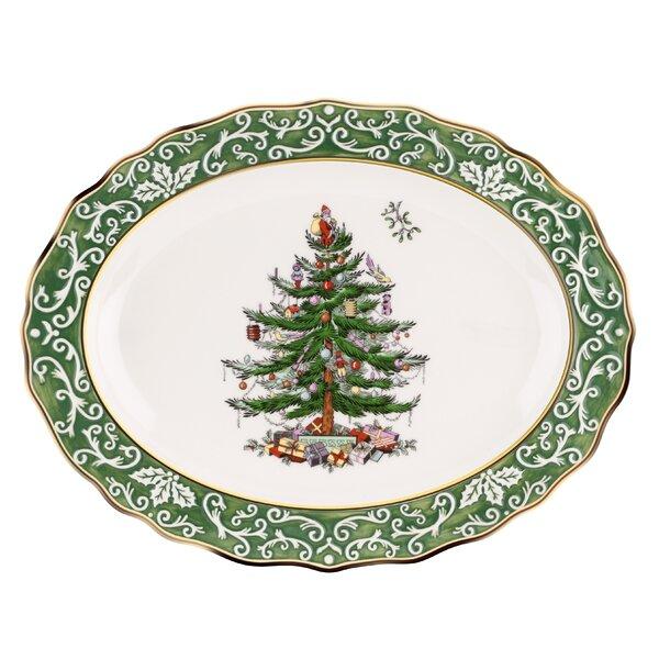 Christmas Tree Embossed Platter by Spode