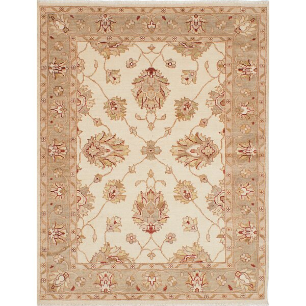 One-of-a-Kind Sao Wool Hand-Knotted Cream Area Rug by Isabelline