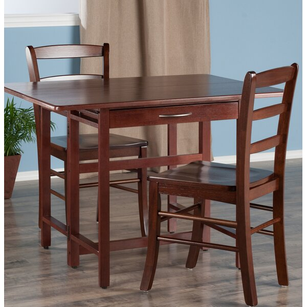 Culley 3 Piece Drop Leaf Dining Set by Red Barrel Studio
