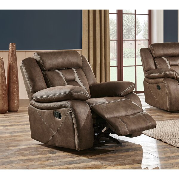 Jorman Stitched Fabric Manual Glider Recliner by Red Barrel Studio