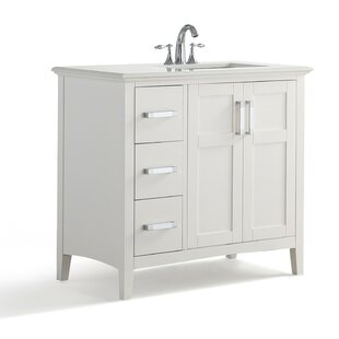 Where buy  Winston Right Offset 37 Single Bathroom Vanity Set By Simpli Home
