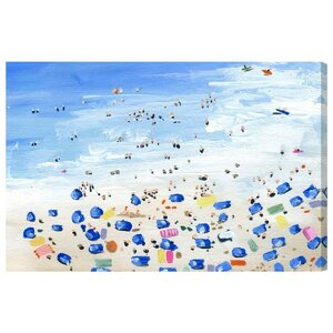 Beach View Painting Print on Wrapped Canvas by Mercury Row