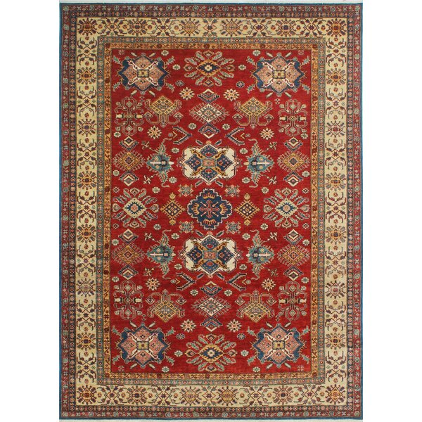Velda Hand-Knotted Wool Red Area Rug by Bloomsbury Market