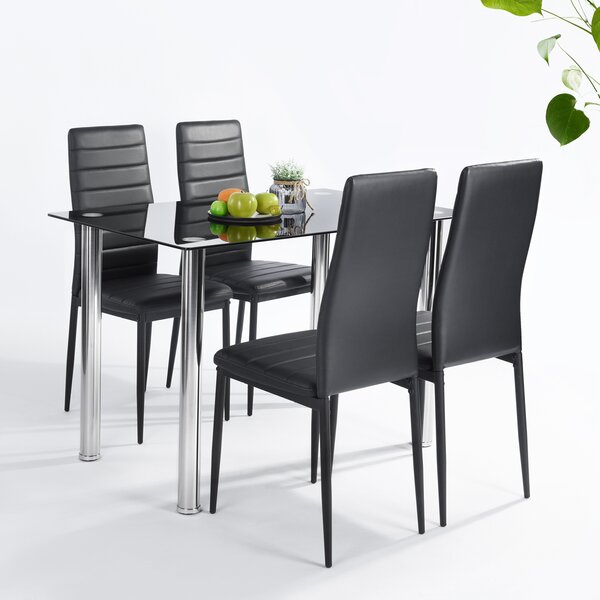 Lamotte 5 Piece Dining Set by Ebern Designs