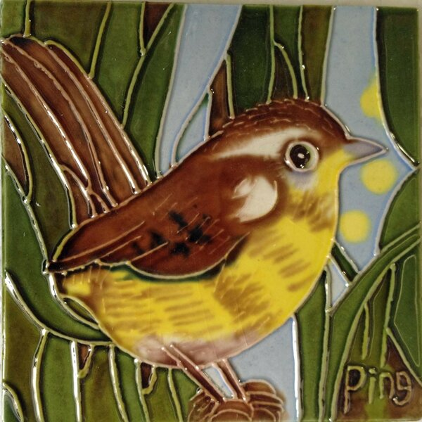 Wren Tile Wall Decor by Continental Art Center