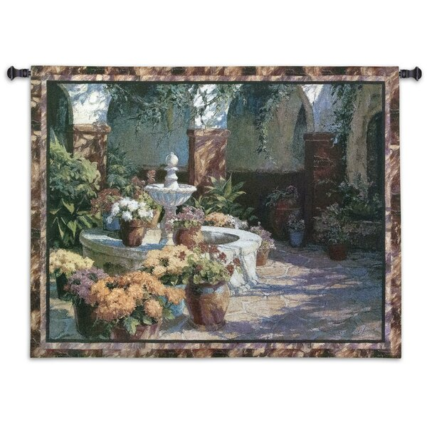 Floral La Fuente Seca Tapestry by Fine Art Tapestries