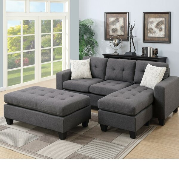 Park Avenue Reversible Modular Sectional with Ottoman by Winston Porter