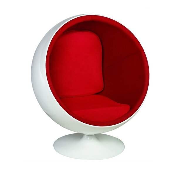 Tejada Ball Swivel Balloon Chair by Orren Ellis