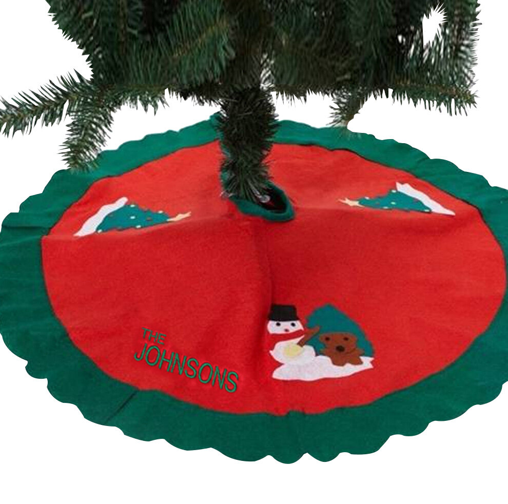monogramonline inc personalized christmas tree skirt wayfair