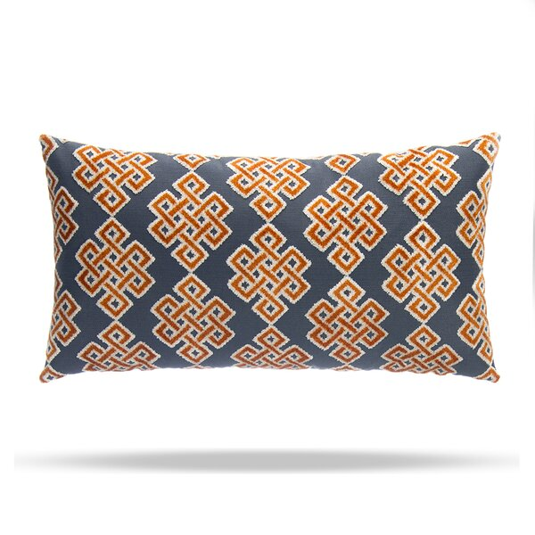 Infinity Square Cotton Lumbar Pillow by Grouchy Goose