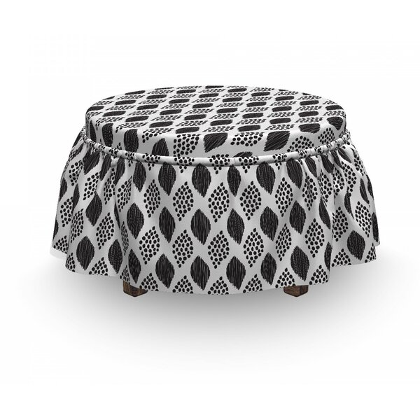 Abstract Dots Ottoman Slipcover (Set Of 2) By East Urban Home