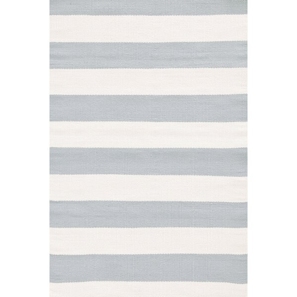 Teal/White Indoor/Outdoor Area Rug by Dash and Albert Rugs