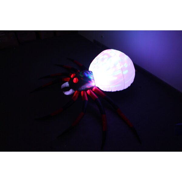 Spider with LED Yard Halloween Inflatable by The Holiday Aisle
