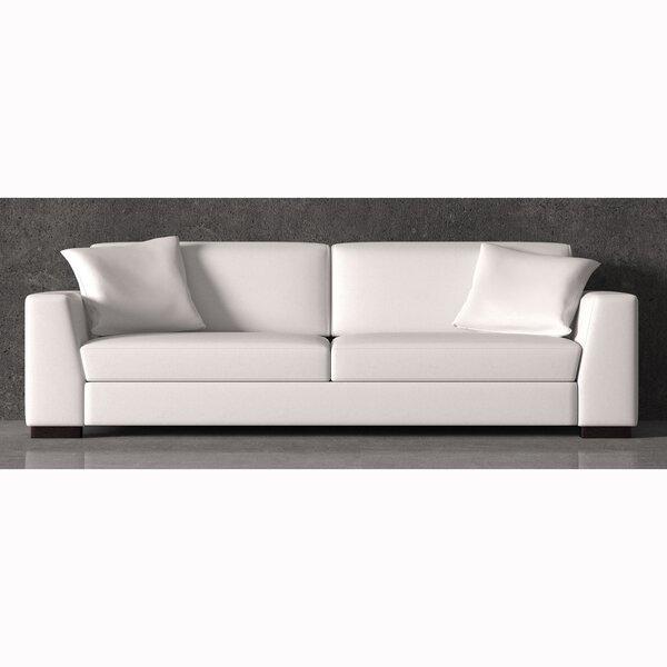 Read Reviews Vanita Top Grain Leather Sofa