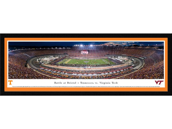 NCAA Battle at Bristol TN vs Vtech Football Framed Photographic Print by Blakeway Worldwide Panoramas, Inc