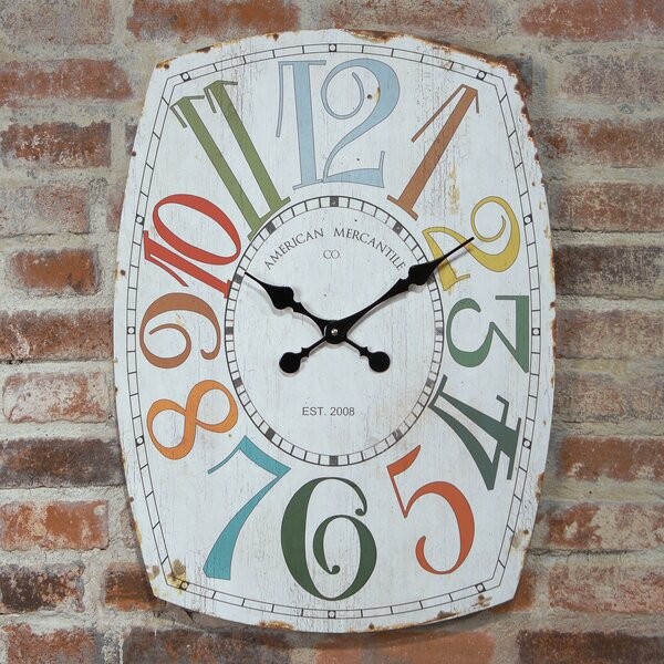 Oversized Home Essentials Whimsy Wall Clock by American Mercantile