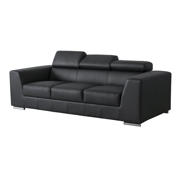 Cesca Leather Sofa by Orren Ellis