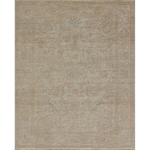 Oushak Hand-Knotted Ivory Area Rug by Pasargad