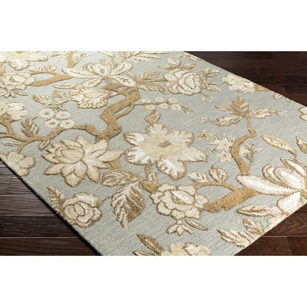 Leedy Hand-Tufted Gray/Brown Area Rug by Alcott Hill