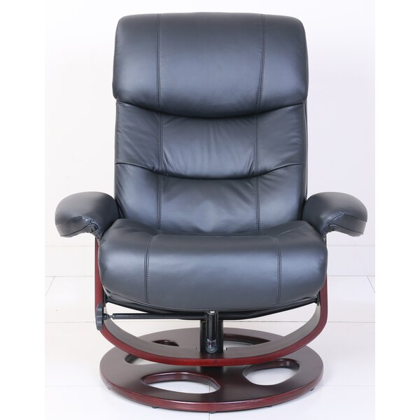 Pedestal Dawson Manual Swivel Recliner with Ottoma