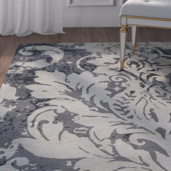 Terry Hand-Tufted Medium Gray/Charcoal Area Rug by House of Hampton