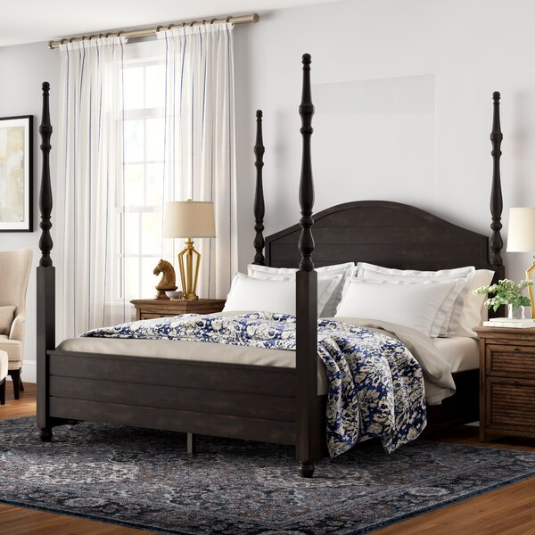 Woodside Four Poster Bed by Three Posts