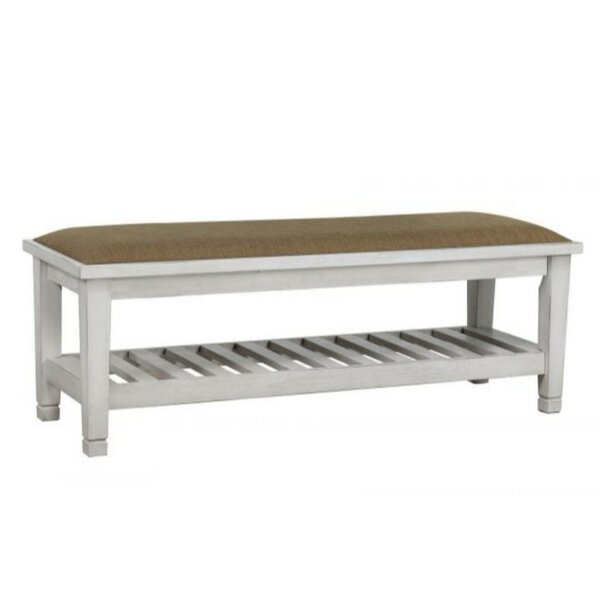 Catarina Wood Storage Bench by Highland Dunes
