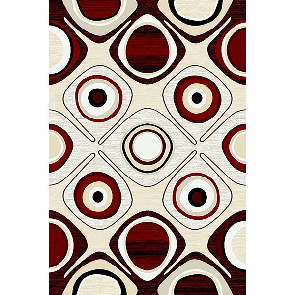 Mccampbell 3D Red/Beige Area Rug by Ivy Bronx